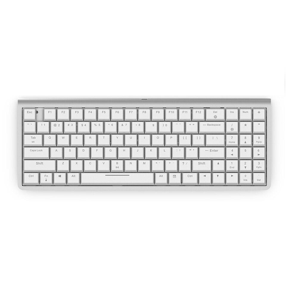 RK 96 touches bluetooth et USB clavier filaire double Mode Kailh commutateur de Choc à profil bas clavier de jeu mécanique pour Android/ios