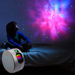 New Starry Sky Projection Lamp With Remote Control LED Night Light Colorful 3D Laser Nebula Light For Kids Baby Bedroom