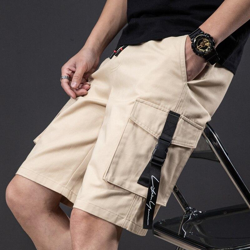 5XL 6XL 7XL 8XL Plus Size Men's Straight Loose Shorts 2021 Summer Classic Style Side Pocket Elastic Waist Casual Shorts