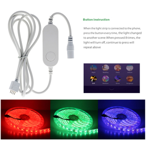 Image 4 - Tuya Smart Control WiFi RGB LED Strip Light Smart Life APP Compatible with Amazon Alexa and Google Home Control by Voice.