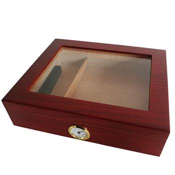 Zeder Holz Zigarre Reise Humidor Box Tragbare Zigarre Fall W/Luftbefeuchter Hygrometer Zigarre Humidor Box Für COHIBA Zigarren