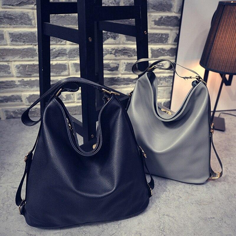 Mode 2019 automne sacs à bandoulière en cuir Pu multifonctionnel grande capacité sacs à main décontractés pour les femmes