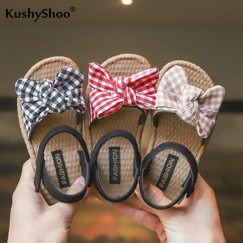KushyShoo Summer New Girls Sweet Shoes Cute Bowtie Sandals Children's Sandals Kids Sandals Toddler Girl Sandals