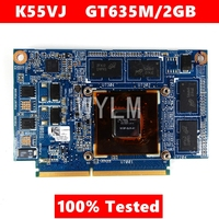 For ASUS K55VJ Graphic Card GeForce GT 635M N13P GLR A1 2GB Video card Fit A55V K55VM K55VJ K55V Laptop video card 100% Tested