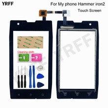 Para o meu telefone martelo ferro 2 toque digitador da tela do painel de vidro sensor novas peças montagem reparo