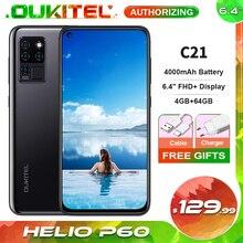 OUKITEL C21 20MP Al Selfie Mobile Phone 4000mAh 64GB 6.4 FHD+ Helio P60 Octa Core 4G Smartphone