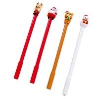 HOT-20Pcs Christmas Gift Pen Gel Pen Christmas Neutral Pen 0.5 Black Student Neutral Pen Stationery