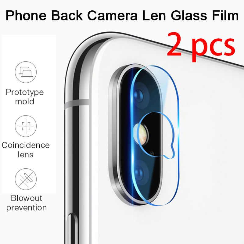 2 adet! Telefon Lens cam iPhone X XR XS 11 Pro Max temperli cam kamera Lens koruyucu için iPhone 7 8 6 6S artı 5 5 5S SE