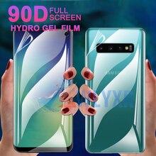 90D Front + Back Hydrogel soft Film For Samsung Galaxy S10 S9 Plus A30 A40 A70 A80 A50 M20 A2Core J4Core Screen Protector Cover
