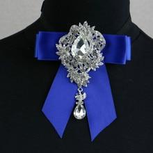 Fashion Men's Crystal Bow Tie Wedding Banquet Suit Shirt Collars Night Club Accessories Women Trendy Jewelry Handmade Bowtie
