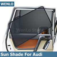 4Pcs Car Side Window Sunshade For Audi Q2 Q2L Q3 Q5 Q7 TT 2010 19 Auto Car Accessories Window Visor Shield Curtain Cover