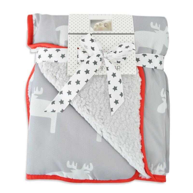 73*83 см детское многофункциональное зимнее теплое портативное одеяло с мультяшным рисунком, непромокаемое ветрозащитное одеяло для коляски - Цвет: A