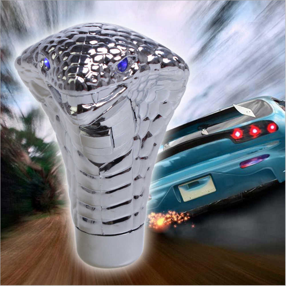 Автомобильный синий/красный светодиодный светильник-вспышка Cobra, ручная ручка переключения передач, модификация автомобиля, универсальный переключатель, автомобильные аксессуары