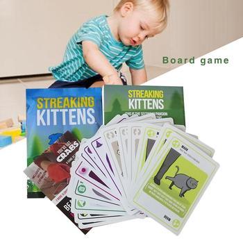 Растягивающиеся котята настольные игры смешные игры счастливые питьевые игровые карты дети головоломки бумажные карты