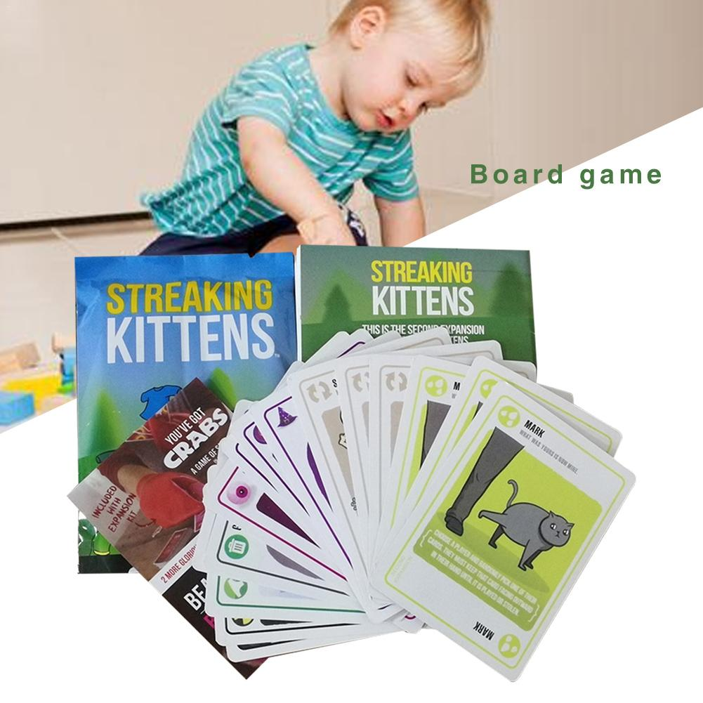 Streaking Kittens Board Game Funny Games Happy Drinking Game Cards Children's Kids Puzzle Paper Cards(China)
