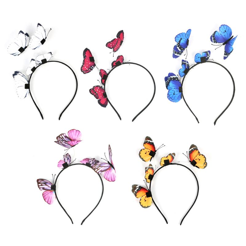 Women Girls Fairy Fancy Headband 3D Flying Insect Fascinator Headwear Wedding Hair Hoop on AliExpress