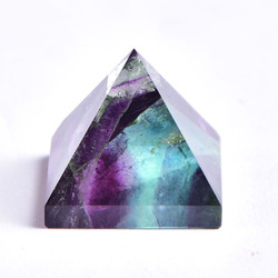 Natural Crystal Pyramid Fluorite Quartz Healing Stone Chakra Reiki Crystal Point Energy Home Decor Handmade Crafts Of Gem Stone