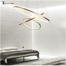 Современные светодиодные светильники золотого, черного и белого цвета, 40, 60, 80, 100 см, круглая Потолочная люстра, светильник для гостиной, кухни, блеск