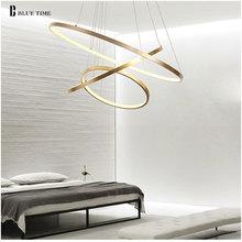 Złoto i czarno białe nowoczesne żyrandole ledowe 40 60 80 100cm koło żyrandol sufitowy led oprawa oświetleniowa salon kuchnia Lustre