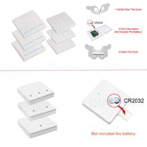 Image 2 - Transmissor e interruptor de controle remoto qiachip, painel de parede sem fio rf 433 mhz ac 110v 220v 1 ch receptor de iluminação do quarto