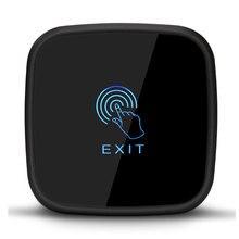 Сенсорная кнопка выхода, 86X86 мм сенсорная панель, нет/NC/COM выход, синий задний светильник, электрическая кассета, мин: 1 шт
