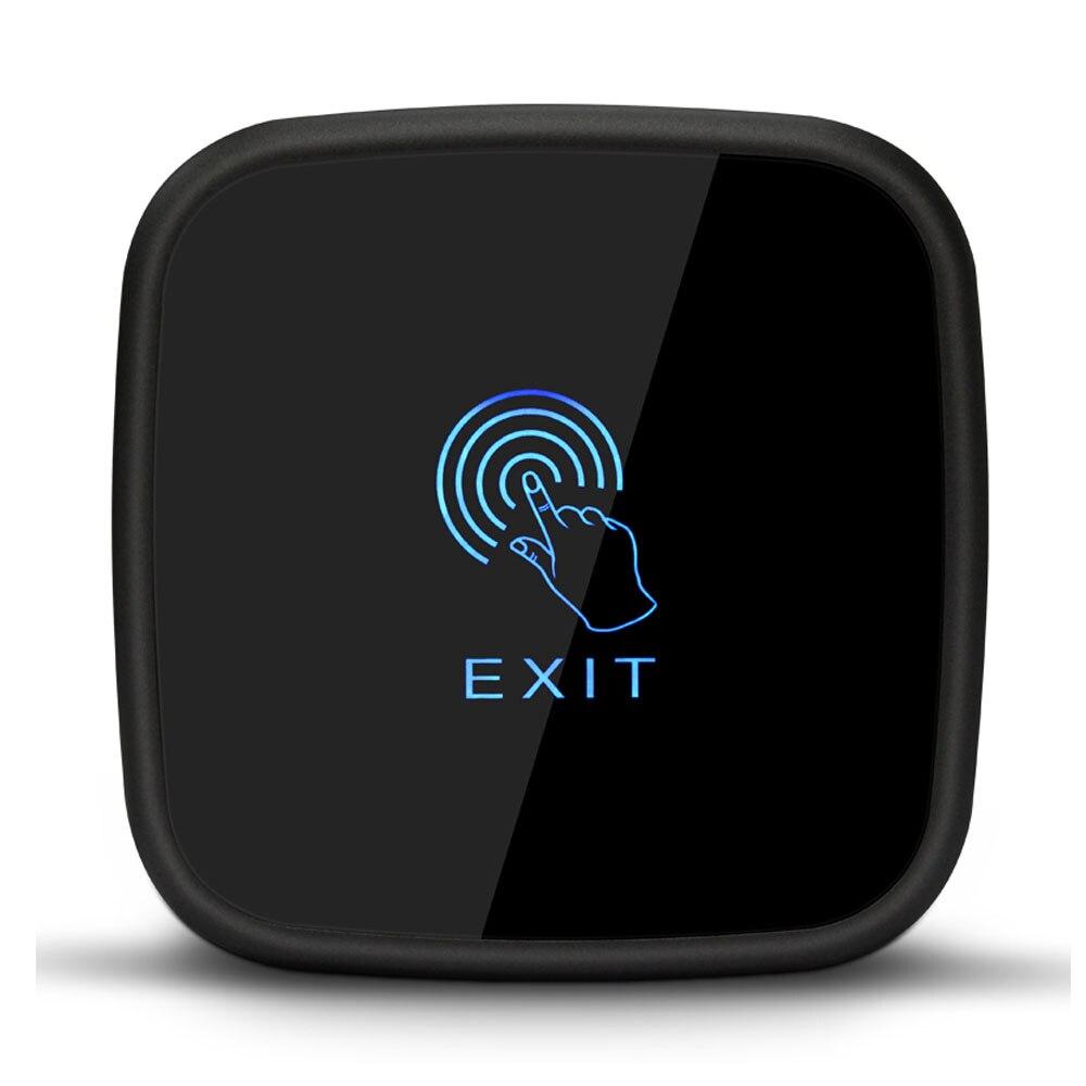 Touch Exit Button,86X86mm Touch Panel,NO/NC/COM Output, Blue Back Light Electric Box Cassette