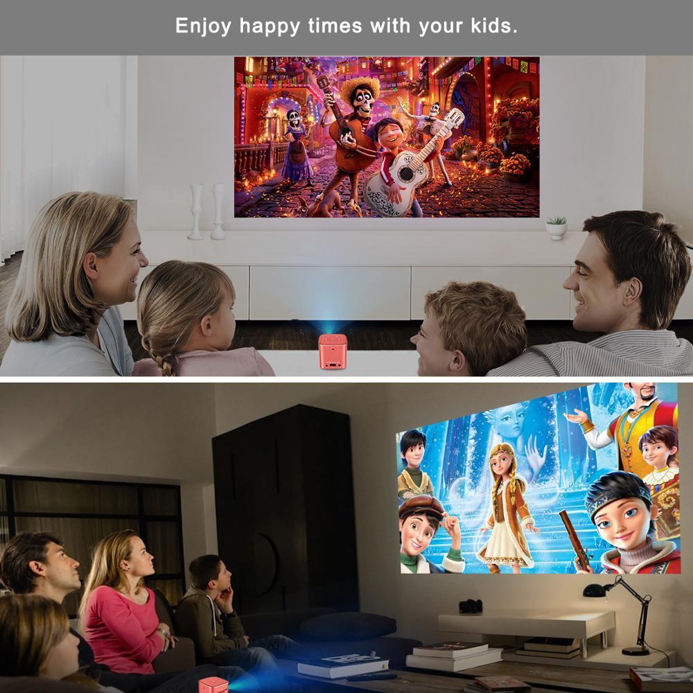 AODIN Fusion 50Ansi Lumens WIFI mini projecteur portable DLP LED projecteur de télévision, prise en charge 1080 P, flux 50000 + TV/films - 5