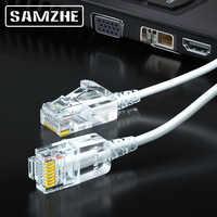 SAMZHE-Cable Ethernet Cat6A ultrafino Cat 6 UTP, Cable de conexión Ethernet, RJ45 Delgado, cables LAN de red XBox para ordenador