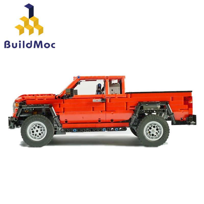 Buildmoc 25520 Dacoma 4X4 Redux Radio Kontrol Mobil RC Mainan Kereta 2019 Kecepatan Tinggi Truk Off-Road truk Mainan untuk Anak