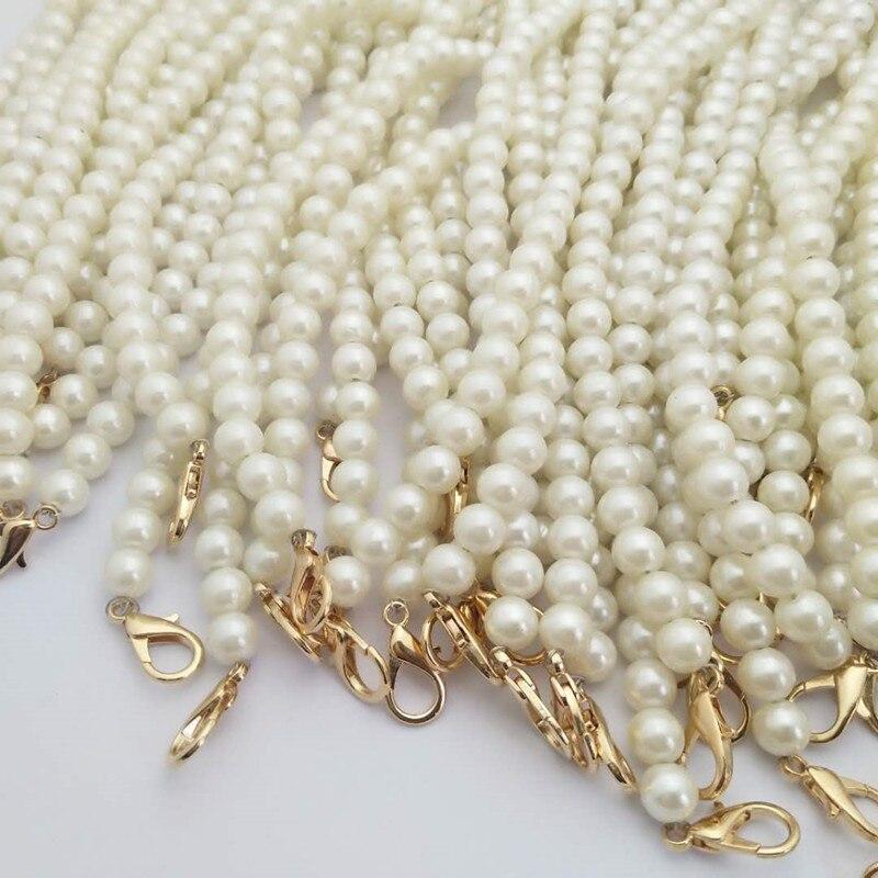 Poignées de sac à main, mignon et Portable perles, ceinture, chaîne, sac à bandoulière, accessoire Long