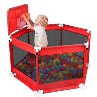 Детский складной манеж, детский безопасный барьер для кровати, бассейна, От 0 до 6 лет, детский манеж, ткань Оксфорд, Детские мячи для бассейна