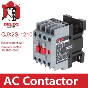 цена на CJX2s-1210 AC Contactor DELIXI 12A 3 Poles NO Coil Voltage 24V 36V 110V 220V 380V 50/60Hz Din Rail Mounted