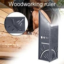 Деревообрабатывающий 3D Mitre углоизмерительный квадратный единица измерения инструмент с манометром и линейки Лидер продаж Прямая