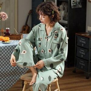Image 3 - BZEL Fashion Womens Pajamas Sets Cotton Casual Homewear Loungewear Ladies Nighty Kawaii Pijamas Pyjamas Big Size Nightwear XXXL
