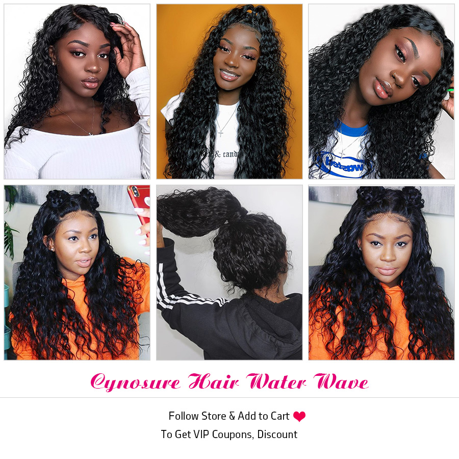 Hb76cea1b080b41918f234be4e291fda0W Cynosure Human Hair Water Wave Bundles with Closure Double Weft Brazilian Hair Weave 3 Bundles With Closure Remy