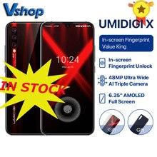 """UMIDIGI X wersja globalna odcisk palca na ekranie 6.35 """"AMOLED 48MP potrójna kamera tylna 128GB NFC Helio P60 4150mAh telefon komórkowy"""
