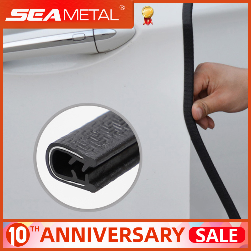 10m Car Door Scratch Protector Strip Sealing Guard Trim Auto Door Edge Stickers Decoration Car Door Edge Protector Seal Strips title=