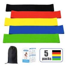 5Pcs/Set Yoga Resistance Rubber Bands Fitness Elastic Bands 0.3mm-1.1mm Training Fitness Gum Pilates Sport Crossfit Workout