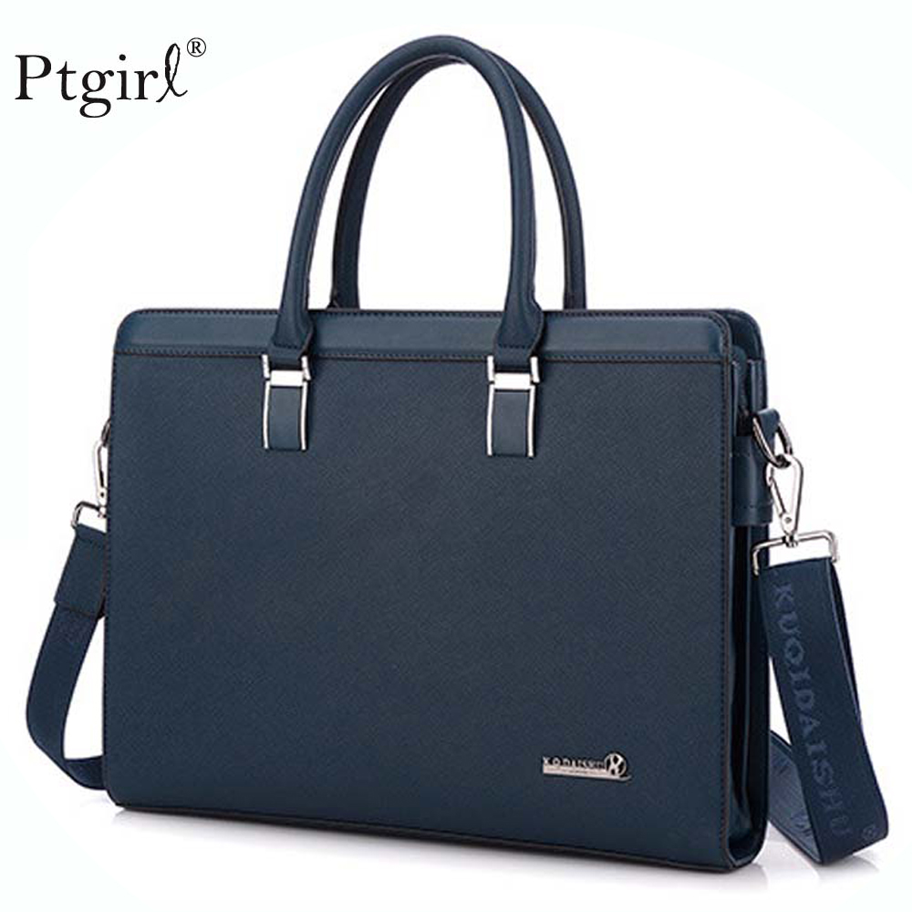 2019 Fashion Genuine Leather Handbag Men Business Messenger Bag 14'' Laptop Tablet Leather Shoulder Bag Crossbody Bolso Hombre
