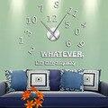 Что бы я не запоздала  в любом случае  вдохновляющая художественная стена с цитатой  большие числа  DIY настенные часы для гостиной  настенные ...