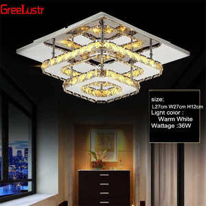 Image 4 - K9 Kristall Decke Lampe Leuchte Moderne Kronleuchter Lüster Led Plafond Für Treppen Flur Indoor Hause Decke lampen Luminaria