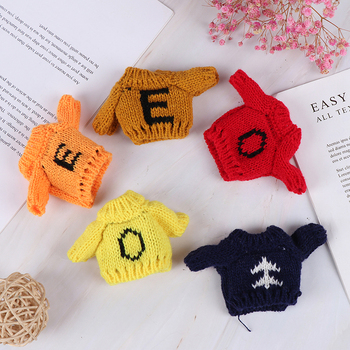 1:6 1:12 Dollhouse Miniature Knitted Sweater for Dolls Clothing Accessory Baby Girls Gift
