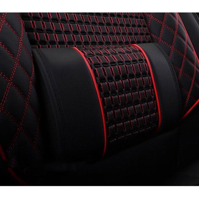 Housses de sièges de voiture | En cuir et soie de glace, pour Kia ceed, carnaval, 2008 2013 2017, cerato k3 2011 2014 k3