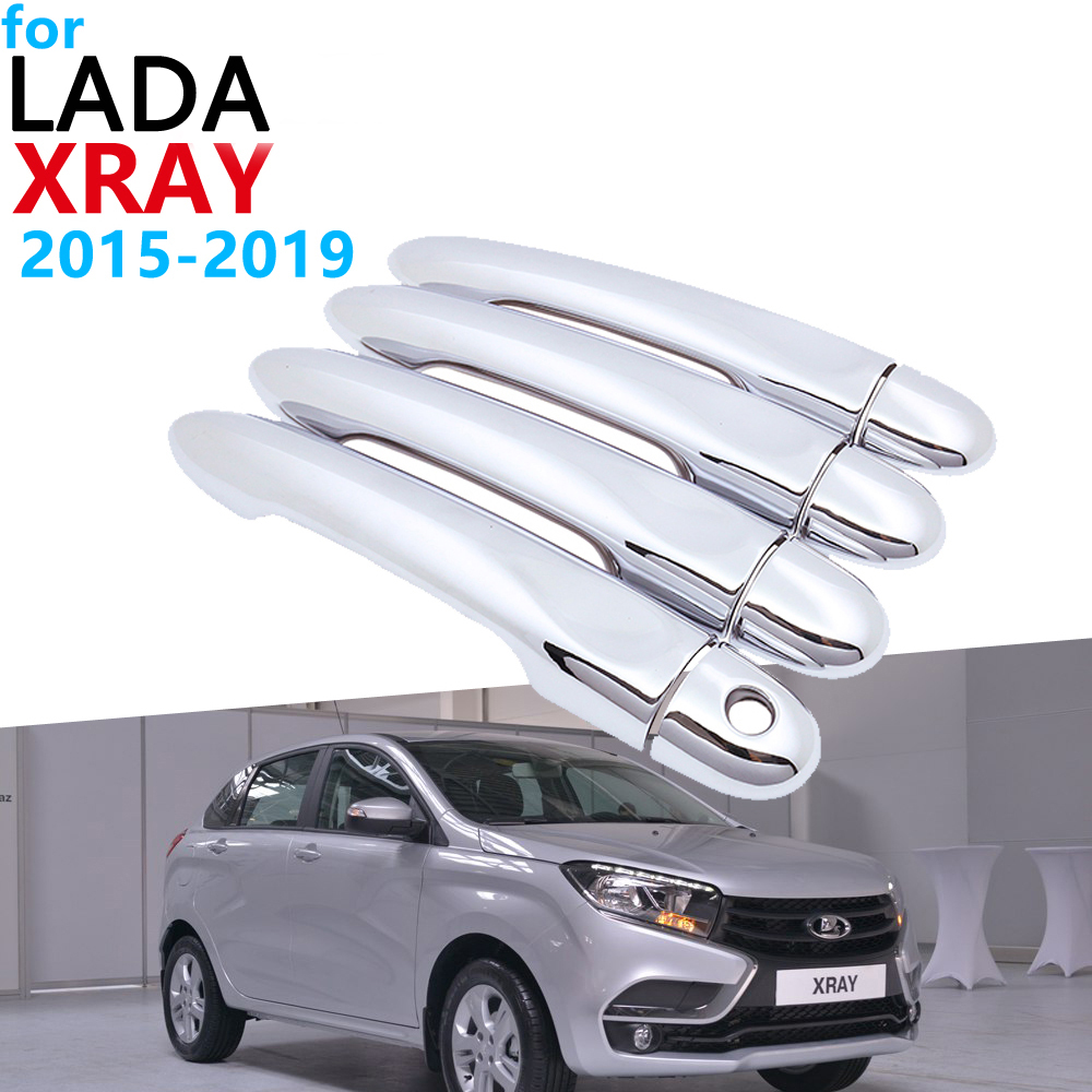 Luxurious Chrome Exterior Handle Cover Trim Set for Lada XRAY AvtoVAZ 2015 2019 Accessories Car Stickers 2018 2017 2016