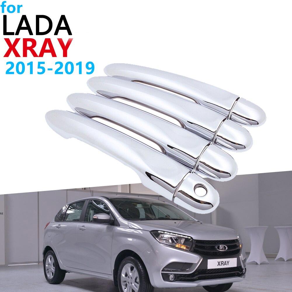 Luxurious Chrome Exterior Handle Cover Trim Set For Lada XRAY AvtoVAZ 2015~2019 Accessories Car Stickers 2018 2017 2016