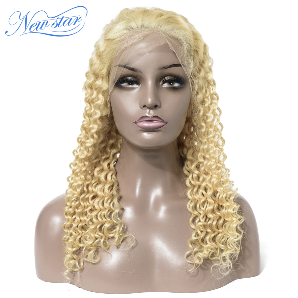 613 Deep Wave 200%Density Lace Front Wigs Brazilian Virgin Human Hair Wig New Star Customized Honey Blonde 13x4 Lace Frontal Wig image