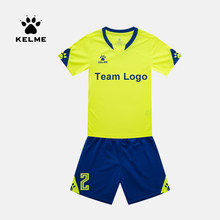 KELME Kind Fußball Jersey Fußball Uniform Sommer Angepasst Anzug Shark Training Team Uniform Sportswear Kind 3803099(China)