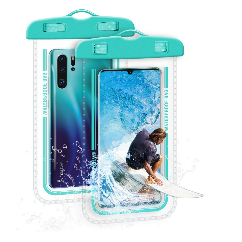 7 Inch Big Screen Phone Waterproof Bag PVC Clear Phone Case Pouch For Water Games Beach Diving Surfing Skiing Swimming Dry Bag