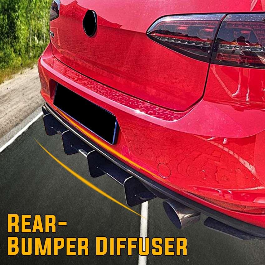 Матовый черный Автомобильный задний бампер, диффузор, задний фартук, щитки, боковые разветвители, подходит для VW Golf 7 GTI 7R 7.5R MK7 MK7 2013 2016 Спойлеры и крылья      АлиЭкспресс