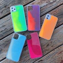 Glitter Luminous Neon Sand Case For iphone